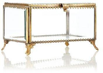 Designer gold bordered large trinket box