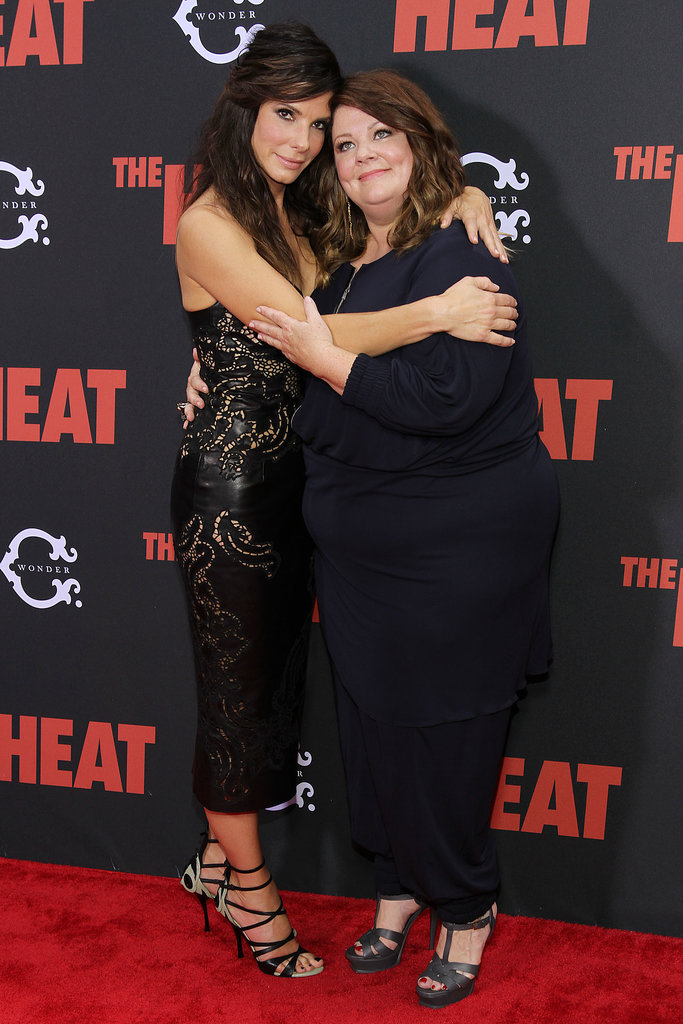 Funny co-stars Sandra Bullock and Melissa McCarthy attended the New York premiere of their new film, The Heat, at Ziegfeld Theatre on June 23.