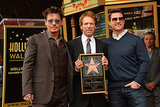 Famed director Jerry Bruckheimer was honoured with a star on the Hollywood Walk of Fame, and had two famous friends — Johnny Depp and Tom Cruise — on hand to help celebrate on June 24.