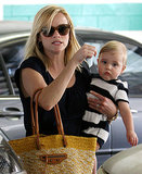 Reese Witherspoon toted her adorable son Tennessee Toth as they left a medical building in Los Angeles on June 27.