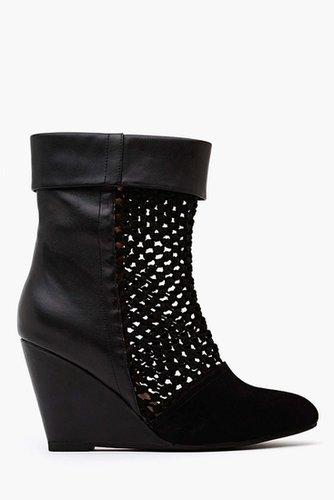 Ashia Wedge Boot - Black