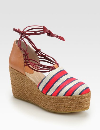 Even if rubber flip-flops aren't quite your thing, you've gotta ditch workday pumps for a Summer BBQ. Chloé's striped espadrilles ($495) give you height — comfortably.