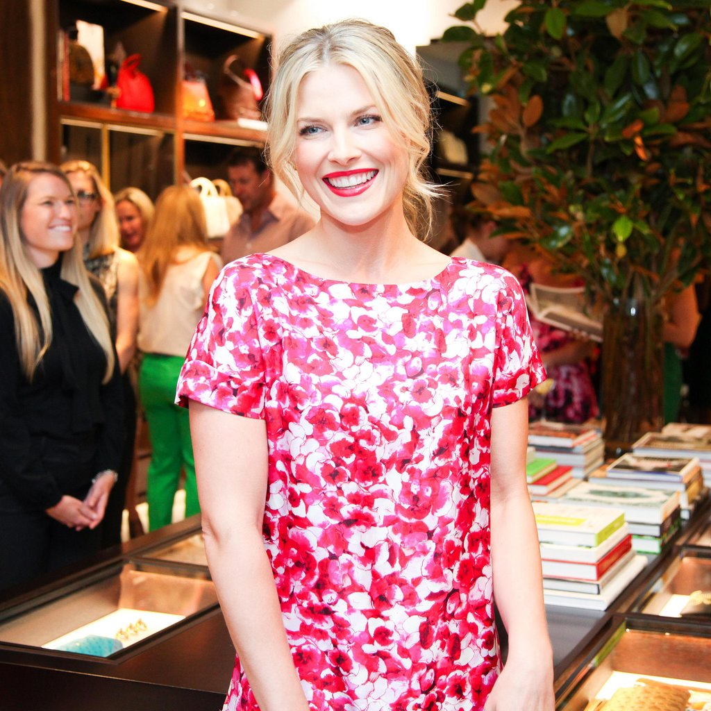 Showing support for designer Carolina Herrera, Ali Larter attended her new shop opening on Rodeo Drive. Ali styled her hair up with tousled tendrils framing her face, and she opted for a bright pink lip hue, Avon's Totally Kissable Lipstick in Berry Smooch ($8), that complemented her dress.
