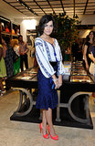 Camilla Belle added high-impact heels to her Carolina Herrera ensemble at the opening of the label's Rodeo Drive boutique.