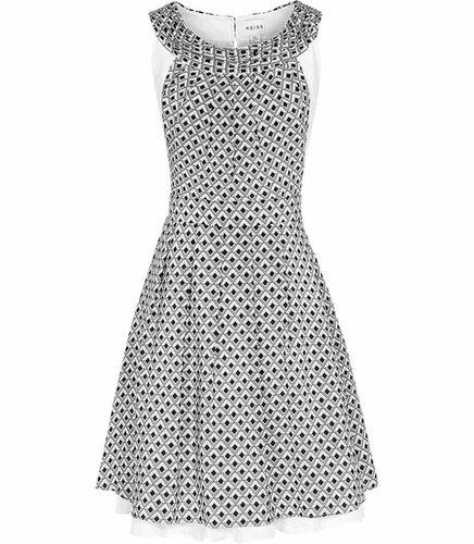 Daria GEO PRINT SILK DRESS