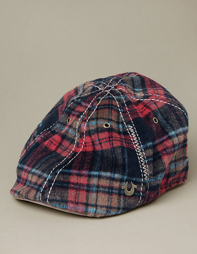 Wooley Check Driving Cap