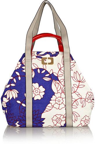 Diane von Furstenberg Kaya printed cotton-canvas shopper