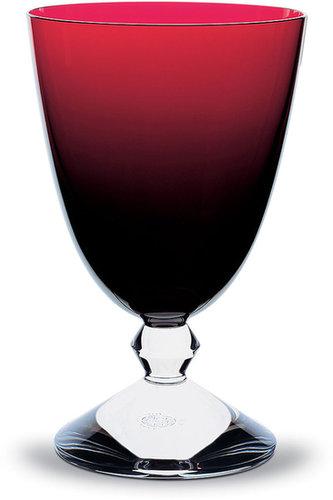 Baccarat Vega Water Glass, Ruby