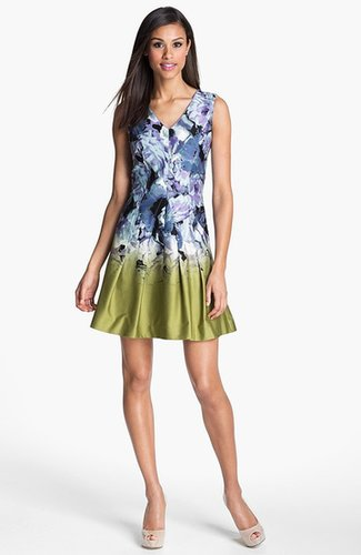 Vince Camuto Print Fit & Flare Dress