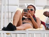 Christina Milian Rocks a Bikini and Fishnets During a Miami Pool Stop