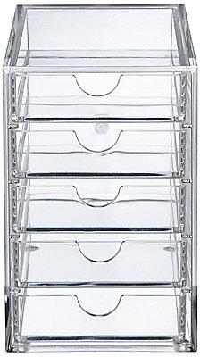 Oscar 5 Drawer Acrylic Storage Unit