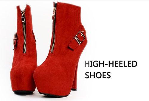 14cm super high heels waterproof Taiwan Korean Women Short Boots_Boots_Fashion shoes_Mili fashion Trade Co.Ltd