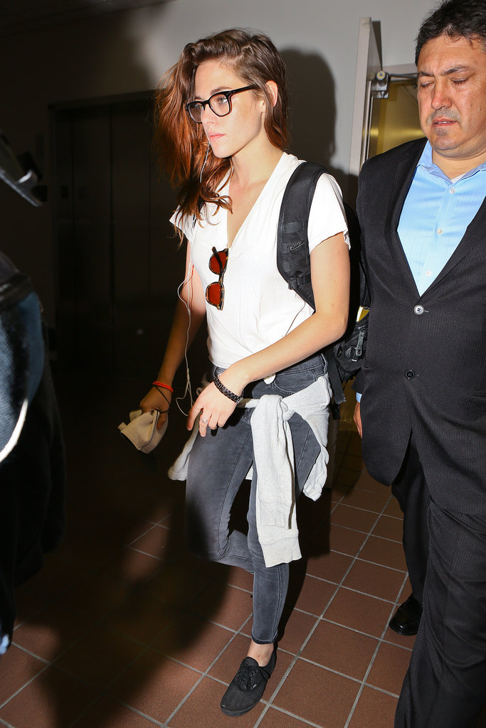 Kristen Stewart was dressed casually for a flight out of LA.