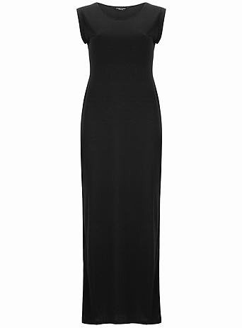 Black coloured maxi dress