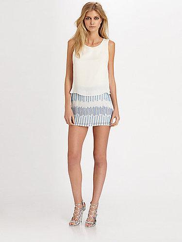 Parker Grace Silk Combo Mini Dress