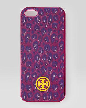 Tory Burch Wray Leopard-Print Hard-Shell iPhone 5 Case, Wildflower Multi
