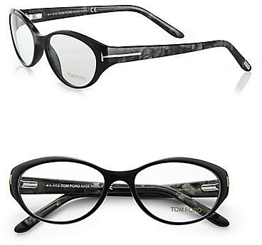 Tom Ford Eyewear Oval Acetate Reading Glasses