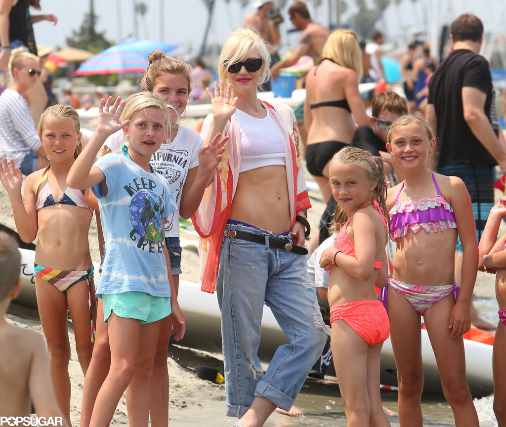 Gwen Stefani Bares Her Midriff For a Beach Day