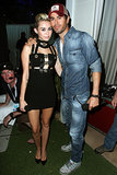 Miley Cyrus met up with Enrique Iglesias.
