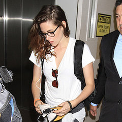 Kristen Stewart Pictures Wearing Glasses at LAX Airport