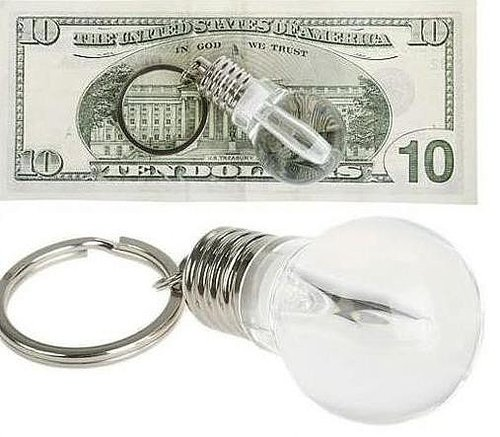 Cute Light Bulb Shaped LED Flashlight Keychain - feelgift.com
