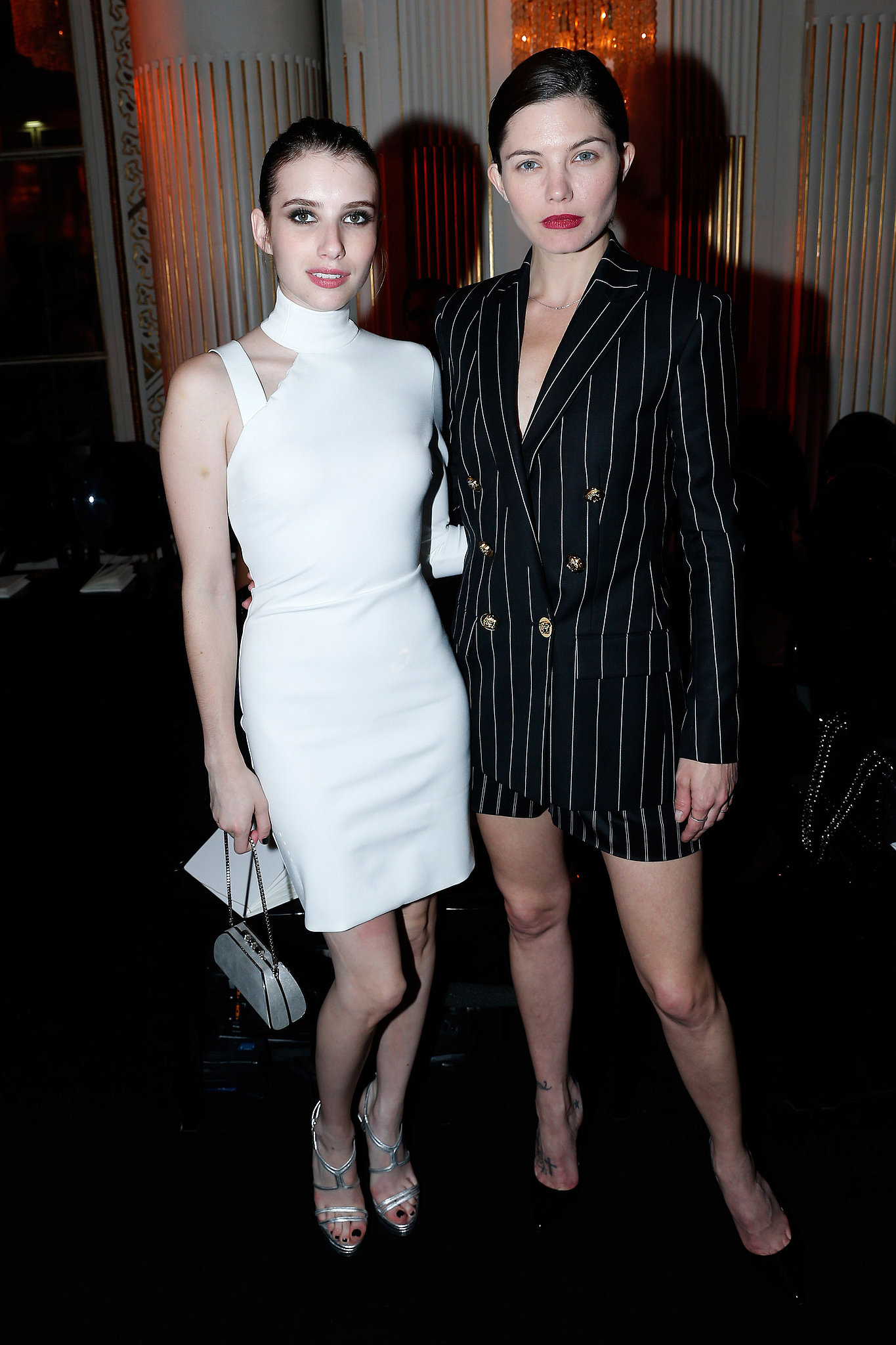 Black and white made for a dramatic pairing when Emma Roberts and  Delphine Chanéac shared a shot at Atelier Versa