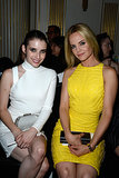 Emma Roberts and Mena Suvari took front-row seats at the Versace show during Paris Haute Couture on Sunday.