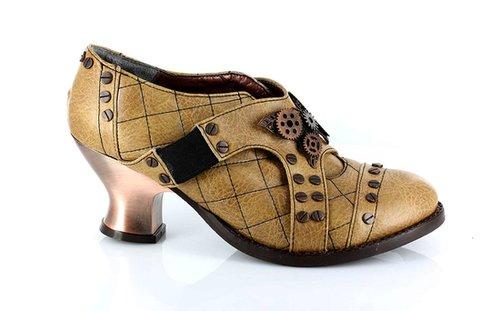 "Hades Shoes H-Icon, 2.5"" Heel Retro Oxford with elastic strap:Satin-Boutique.com"