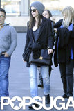Sandra Bullock arrived at the Sydney Harbor on Monday.
