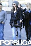 Sandra Bullock arrived at the Sydney Harbor on Monday.