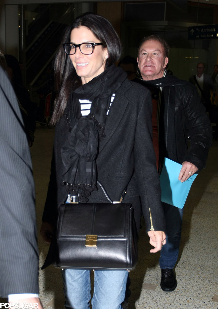 Sandra Bullock touched down at the Sydney Airport on Sunday night.