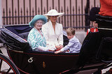 Princess Diana shared a carriage with Prince William and Queen Elizabeth II in London in June 1987.