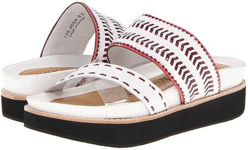 Nanette Lepore - Chi Chi Sandal (White Leather/Fuchsia & Flamingo) - Footwear