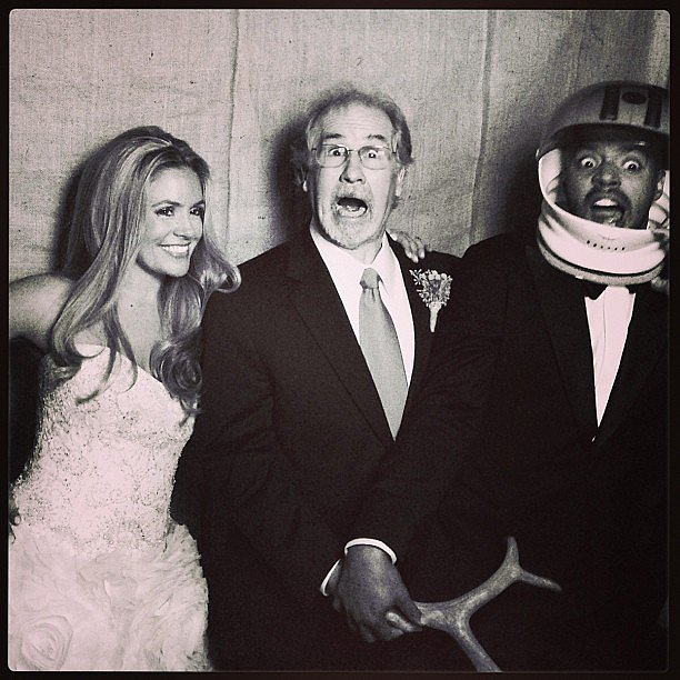 CaCee Cobb shared a silly snap with her dad from her December 2012 wedding to Donald Faison. Source: Instagram user caceecobb