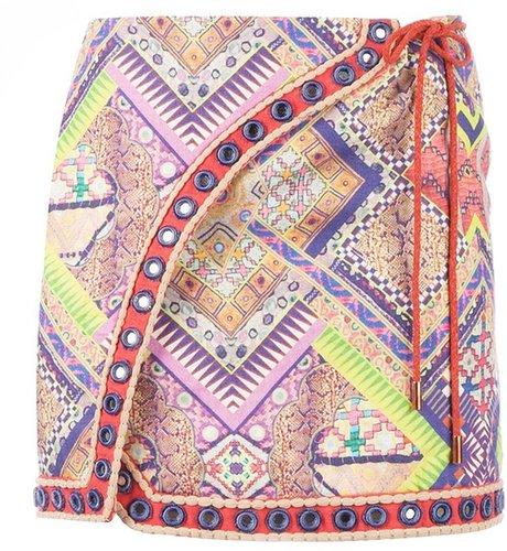Matthew Williamson embroidered mini skirt