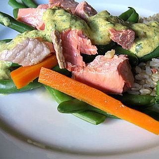Healthy Recipe: Poached Salmon with Curried Yogurt Sauce