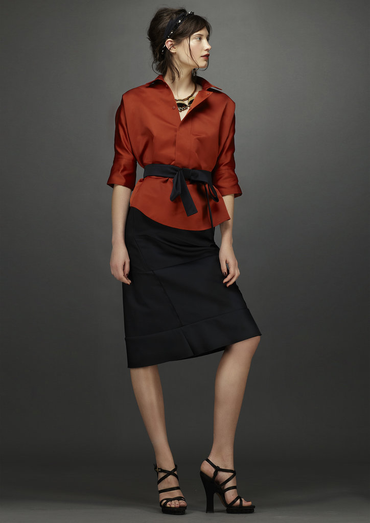 A cinched waist and knee-length hem make this a ladylike option. Source: Marni