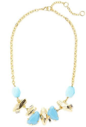 Turquoise Stone & Chunk Necklace