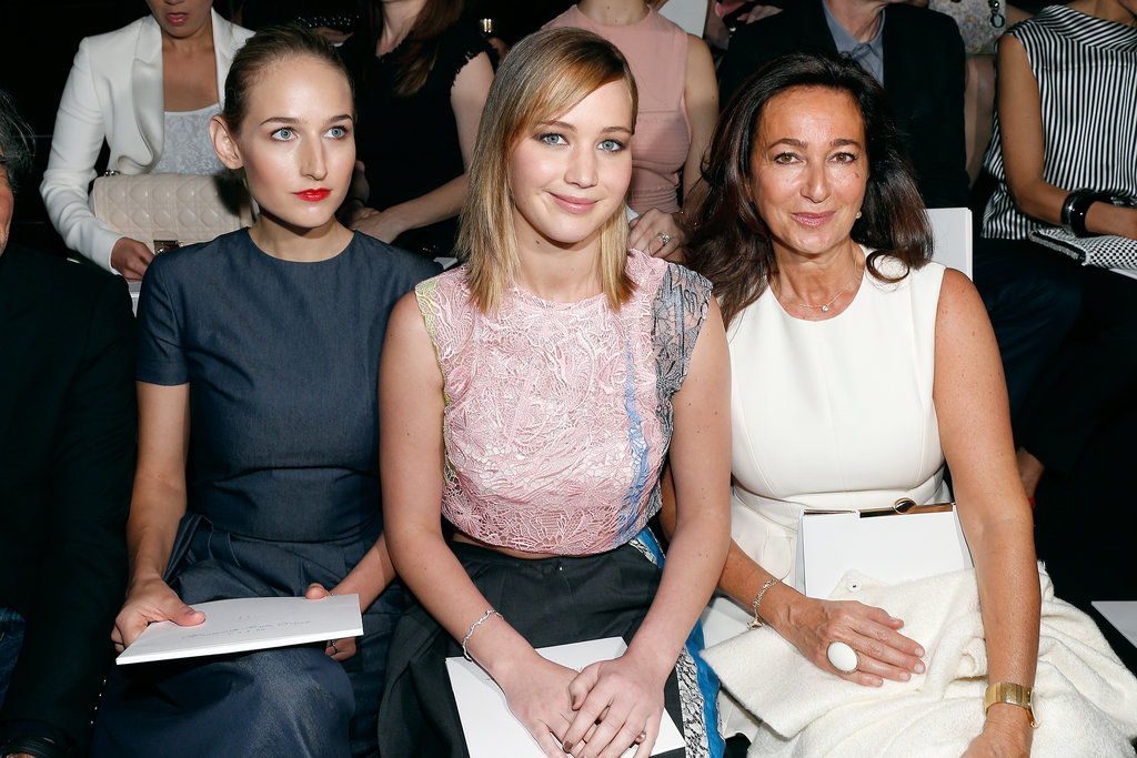 Leelee Sobieski and Jennifer Lawrence joinsed Sidney Toledano in the front row at Christian Dior on Monday.