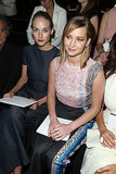 Jennifer Lawrence and Leelee Sobieski took in the Christian Dior Haute Couture show from the front row on Monday.