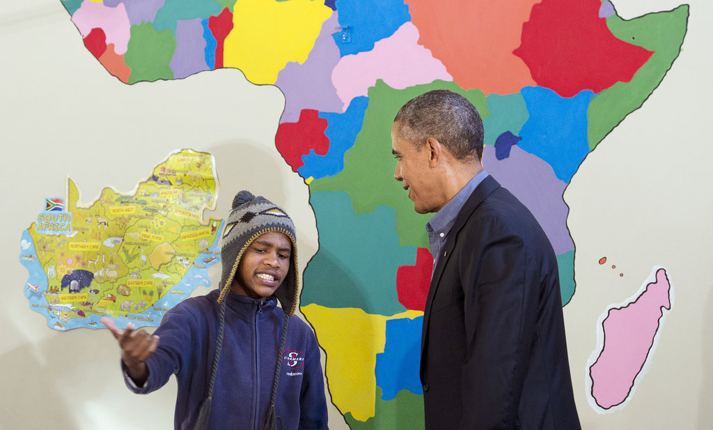 In June, President Obama watched as a young boy rapped for him during a tour of the Desmond Tutu HIV Foundation Youth Center in Cape Town, South Africa.