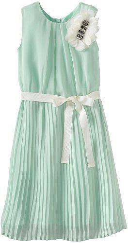 Blush by Us Angels Girls 7-16 Chiffon Dress With Pleat Skirt