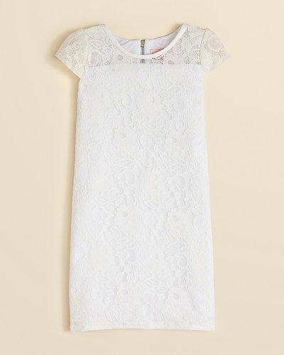 Zoe Girls' Floral Lace Dress - Sizes 7-16