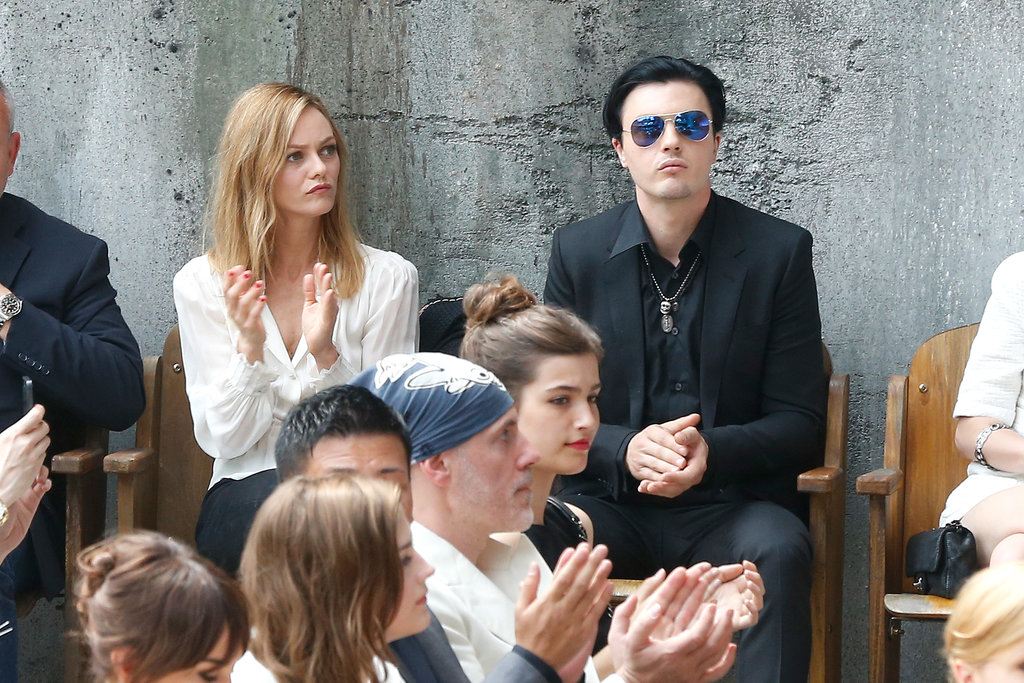 Vanessa Paradis took a front-row seat next to Michael Pitt at Chanel's show on Tuesday.