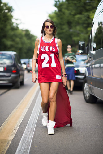 A more literal interpretation of the sporty trend. Source: Le 21ème | Adam Katz Sinding