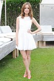 Rose Byrne was fresh in a little white dress and cap-toe pumps at a DKNY charity auction in Montauk, NY.
