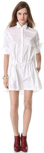 Thakoon addition Ruched Front Shirtdress
