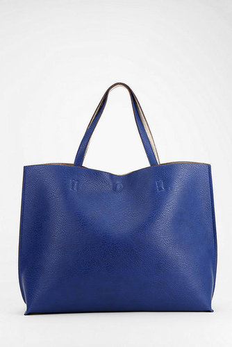 Reversible Vegan Leather Oversized Tote Bag
