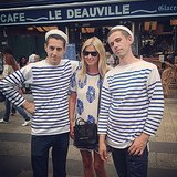Nicky Hilton was greeted by a couple of handsome Frenchmen after touching down in Paris. Source: Instagram user nickyhilton