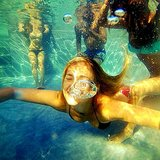 Bar Refaeli blew bubbles underwater. Source: Instagram user barrefaeli